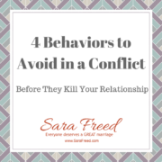 4 Behaviors to Avoid in a Conflict